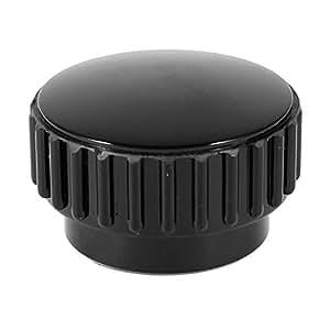 Black M8 8mm Female Thread Dia Screw On Type Clamping Round Krnobs