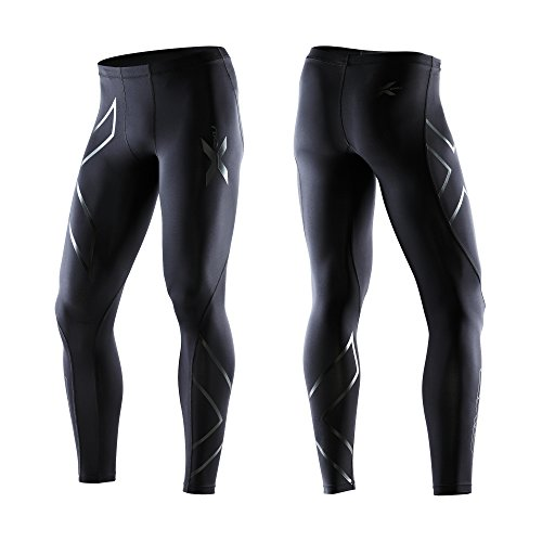 2Xu Men'S Recovery Compression Tights, Xxx-Large, Black/Black front-1077475