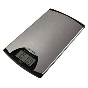 American Weigh EDGE Stainless Steel Digital Kitchen Scale, 11-Pound by 0.1-Ounce
