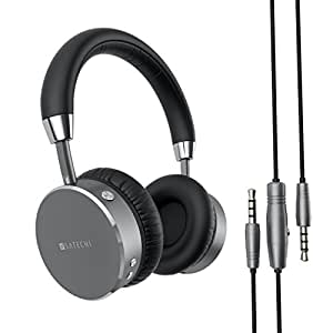 Satechi Aluminum Bluetooth Wireless Headphones with 3.5mm Audio-out Jack for iPhone 6, Samsung Galaxy S6 and more Smartphones and Tablets - Features Enhanced Bass