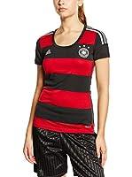 adidas Camiseta de Fútbol DFB Away WM 2014 (Negro / Rojo)