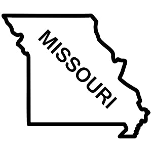 Amazon.com: Missouri State Outline Decal Sticker (black, 5 inch