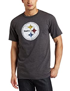 NFL Men's Pittsburgh Steelers Vintage Logo III Short Sleeve Basic Tee by Majestic