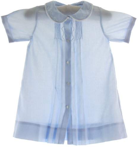 Newborn Boys Blue Take Home Day Gown Feltman Brothers (Nb) front-444985