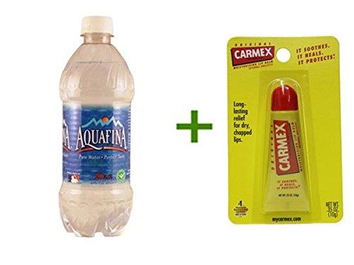 aquafina-drinking-water-24-20oz-2-pack-carmex-moisturizing-lip-balm-tubes-1ct