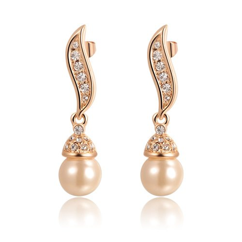 Kaizer Jewelry Gold-Plated Dangle & Drop Earring For Women (Golden)