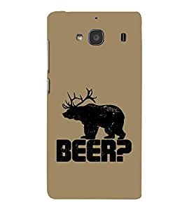 EPICCASE Drunken fun Mobile Back Case Cover For Mi Redmi 2 (Designer Case)
