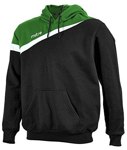 MITRE-Polarisiert-Herren-Fuball-Sweatshirt-Hoody-Top-Herren-Polarize-Football-Sweatshirt-BlackEmeraldWhite