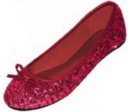 New Womens Sequins Ballerina Ballet Flats Shoes 4 Colors Available (11, Ruby Sequins 2001)