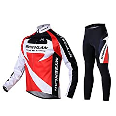 NEW-MYSENLAN Mens Fall and Winter Style Cycling Suits with Dual Side Fleece , XXXL by ELCE Stock