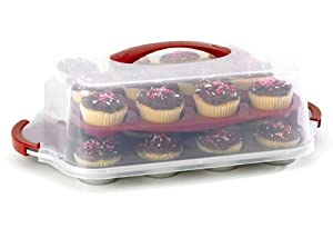 Amazon Com Good Cook 24 Count Cupcake Pan And Carrying