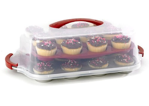 Good Cook 24 Count Cupcake Pan and Carrying Case