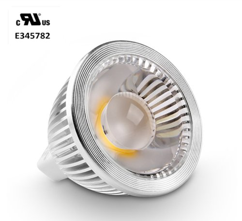 Golden Sun Ul-Listed 5 Watt Mr16 Gu5.3 Bi Pin Led Cob Spot Bulb, 50W Equivalent, Ac/Dc 12V, 38 Degree, Dimmable With Led Compatible Dimmer And Transformer, Recessed Lighting, Track Lighting, 3000K Soft White