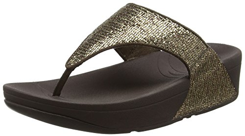 FitFlop Lulu Superglitz, Sandali Donna, colore marrone (copper), taglia 39