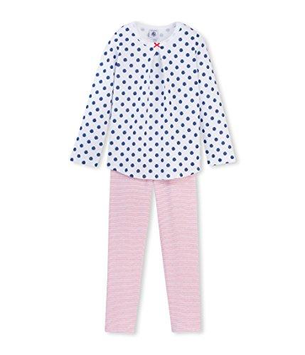 Petit Bateau Bengale, Camicia da Notte Premaman Bambina, Multicoloured (Ecume/Major/Multicour), 10 Anni