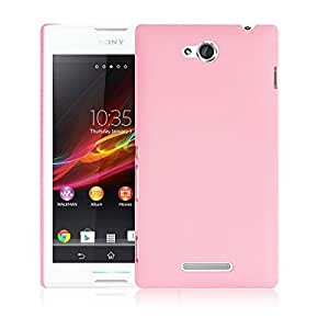 Pink Hard Plastic Back Cover Case Protector Skin Shell for Sony Xperia C S39h C2305
