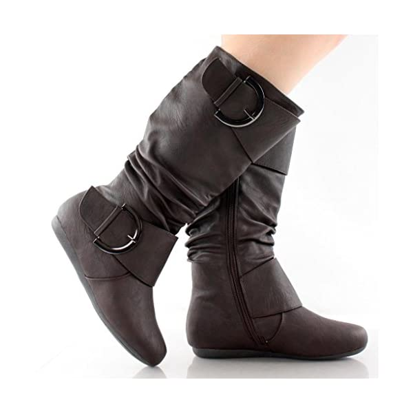 71b56889b27 Top Moda Women s BANK-85 Round Toe Ruched Slouchy Boots - Visuall.co