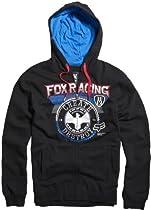 Fox Racing Mens Infinite Speed Front Fleece Hoody Zip Sports Sweatshirt, Black, 2X-Large