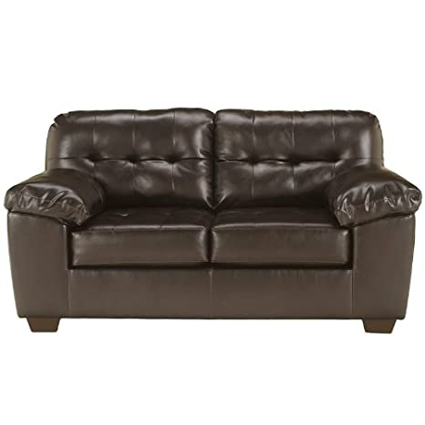 Flash Furniture Alliston Loveseat, Chocolate Dura Blend