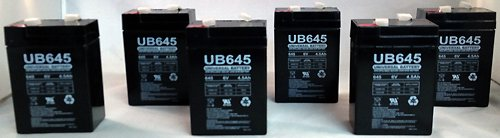 6V 4.5Ah Replacement Battery For Rhino Mule Pe4-6 - 6 Pack
