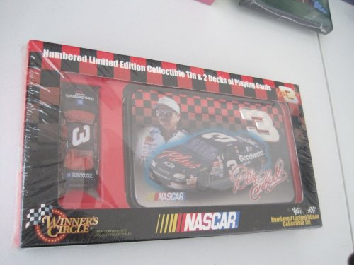 Winner's Circle Nascar Dale Earnhardt #3 Numbered Limited Edition Collectible Tin, 2 Decks of Playing Cards & Die Cast Replica Monte Carlo - 1