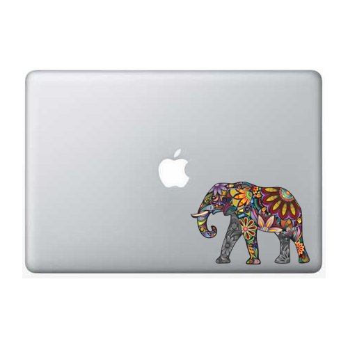 Colorful Elephant - 5 Inch - Apple Macbook Laptop Decal (Sticker Decals For Laptops compare prices)