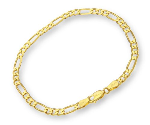 ChainCo 9ct Yellow Gold 4.7g Figaro Bracelet of  22cm/8.5 Inch Length and  4mm Width