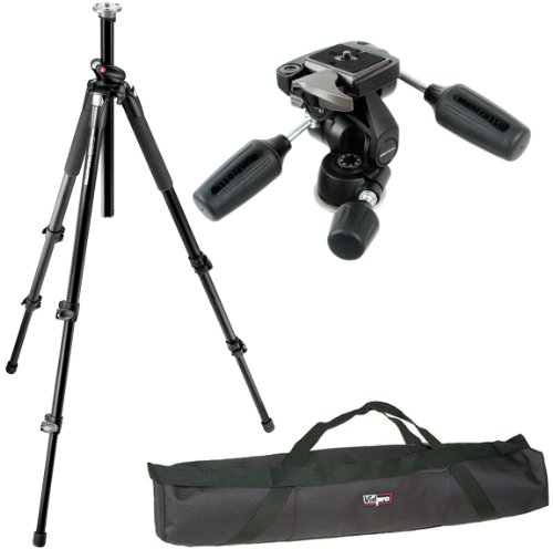 "Manfrotto 055XPROB/804RC2 Pro Tripod Kit and a Vidpro 35"" Padded Case"