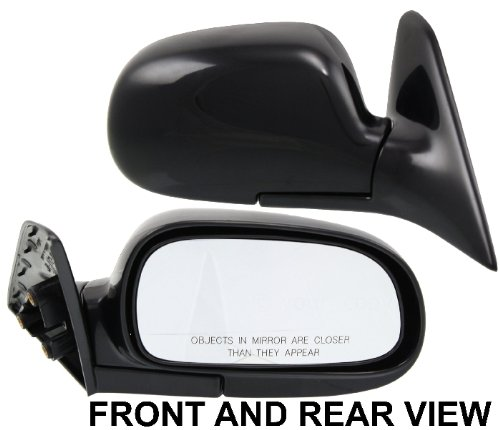 For 93-97 Corolla Manual Black Folding Rear View Mirror Left /& Right SET PAIR