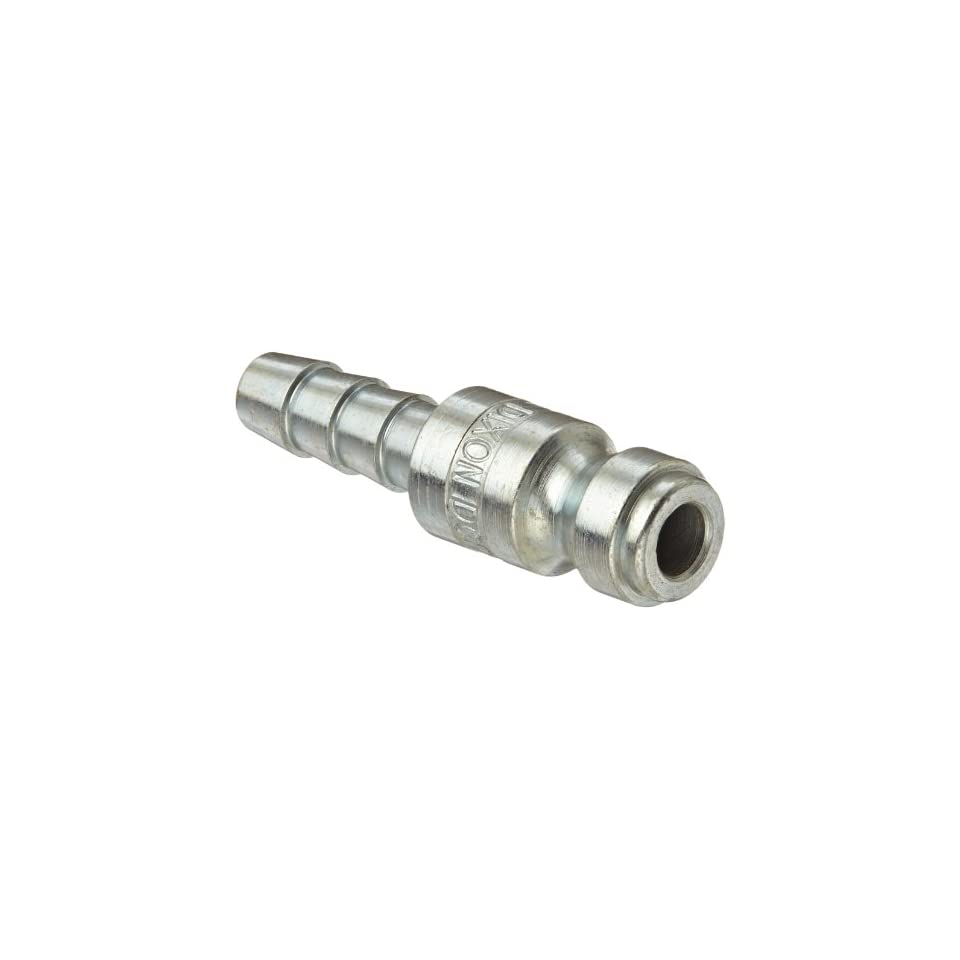 Dixon Valve DCP142 Steel Air Chief Automotive Interchange Air Fitting, Quick Connect Plug, 1/4 Coupling x 1/4 Hose ID Barbed, 37 CFM Flow Rating