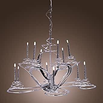 Moderni lampadari in acciaio inox con 12 luci di candela for Amazon lampadari