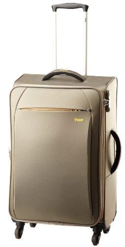 Vip VIP Aerlite Strolly 4 Wheel Fabric 68 Cms Khaki Softside Carry-On Suitcase (STAER68WKHK) (Brown)