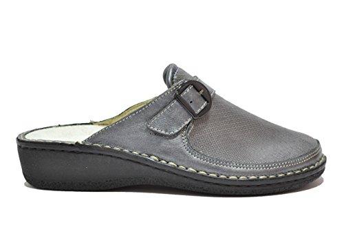 Cinzia Soft Ciabatte antracite scarpe donna PLANTARE ESTRAIBILE 2977BV 41