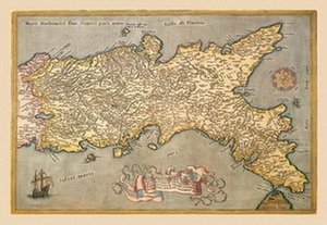 Map of Southern Italy 20x30 poster