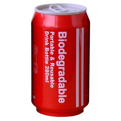 Biodegradable+バイオディグレーダブル+ポータブル+ドリンクボトル+[+レッド+]