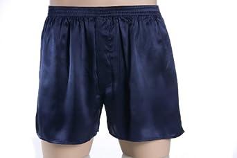 Seide pur, Boxer Shorts, Boxershorts, 100% Seide, Dunkelblau, L (6)