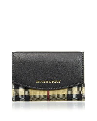 BURBERRY Geldbeutel schwarz/beige