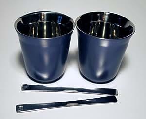vivalto lungo nespresso pixie lungo metall becher tasse blau k che haushalt. Black Bedroom Furniture Sets. Home Design Ideas
