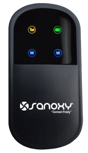 Sanoxy Unlocked 3G Wireless N Mobile Broadband Router With Sim Card Port - Iphone Size Wifi Mobile Hotspot Router Built-In 3G Modem And Rechargeable Battery- Ieee 802.11B, Ieee 802.11G, Ieee 802.11N Wcdma Travel Router Works With T-Mobile And At&T Sim Car