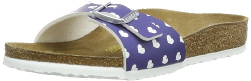 Birkenstock Unisex-Child Madrid Birko Flor Fashion Sandals 024123 Heart White Blue 13 UK Child, 31 EU, Narrow