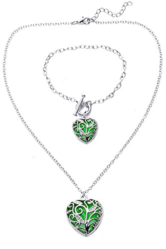 Big-Heart-Locket-Glow-In-the-Dark-Necklace-and-Bracelet-SET-Polished-Jewelry-Pendant-Steampunk-Fairy-Magical