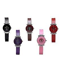 Glory Watches Womens Wrist Watch Set of 5