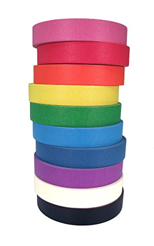 ecr4kids-decorative-craft-tape-10-pack-1-x-60-yards-roll-assorted-colors