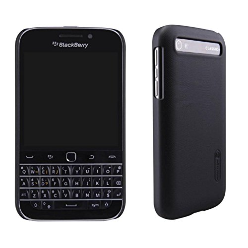 BlackBerry Classic Case,Leevin(TM) Frosted Hard Case Cover with HD Screen Protector for BlackBerry Classic Q20 (Black)