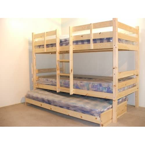 Bunkbed with trundle guest bed - 3ft Single Bunk Bed with underbed - VERY STRONG BUNK! - Contract Use - has TWO...