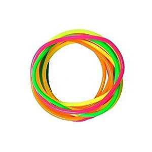Pack of 12 Mixed Neon Gummy Bracelets (Multi-Coloured)