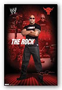(22x34) The Rock WWE Sports Poster Print