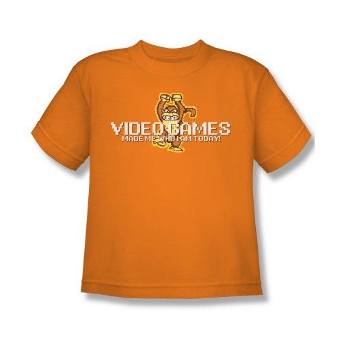 Video Games Kids T-Shirt Large Orange