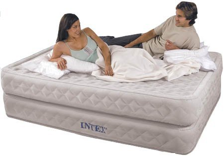 Intex Queen Size Supreme Air-Flow Air Bed with Built-in Electric Pump