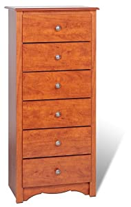 Prepac Monterey Cherry 6-Drawer Lingerie Chest